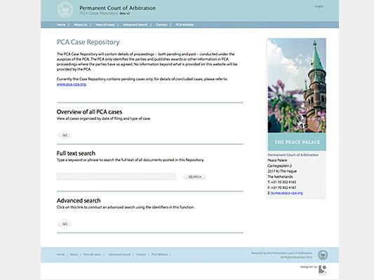 Permanent Court of Arbitration :: PCA Cases